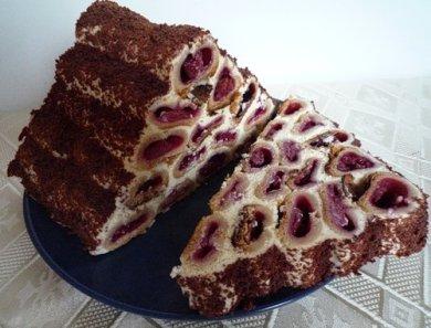 рецепт торт зимняя вишня с фото